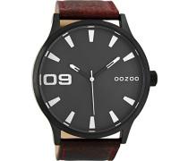 Erwachsene Digital Quarz Uhr mit Leder Armband C8532