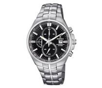Erwachsene Chronograph Quarz Uhr mit Edelstahl Armband F6862/4