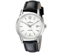 - 1209.1532 Armbanduhr Anastasie Quarz analog Leder Schwarz