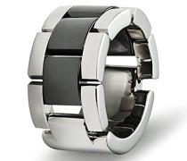 Ring Edelstahl antiallergen Keramik schwarz 13 mm