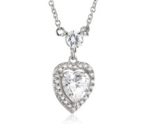 Collier Bridal 925 Silber rhodiniert Zirkonia Brillantschliff weiß 45 cm - 63/0857/1/082