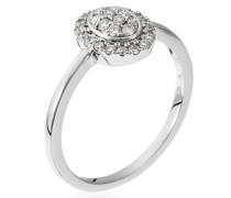 Damen Ring 18 Karat (750) Gold Diamant 0.25 ct