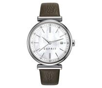 Armbanduhr Datum klassisch Quarz Leder ES108542002