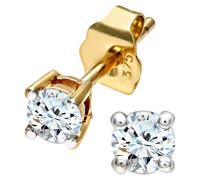 Ohrstecker 375 Leicht Getöntes Diamant 0