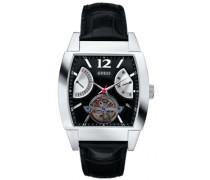 Herren-Armbanduhr Analog Quarz Leder W25002G1