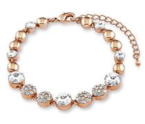 Armband 18+3cm rosévergoldet veredelt mit Kristallen von Swarovski