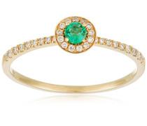 Ring 9 Karat (375) Gelbgold Smaragd-badm 07102-0001