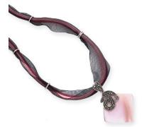 Ohrhänger Markasit und Sterling-Silber 925, rosafarbenes Perlmutt Art-Deco-Stil Anhänger