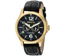 10491 I-Force Uhr Edelstahl Quarz schwarzen Zifferblat