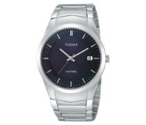 Uhren Armbanduhr XL Modern Analog Quarz Edelstahl PS9131X1