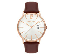 Chronograph Quarz Uhr mit Leder Armband PL.15307JSR/01