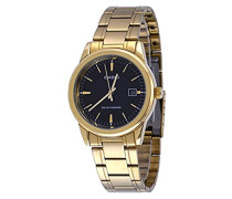 Mod. MTP-VS01G-1A - Solar Powered Quartz Date SS Bracelet Ip Gold Black Dial 41mm wr 30mtORIGINAL BOX