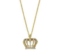 Halskette Fashion Messing teilrhodiniert Zirkonia 65 cm weiß 273050012V