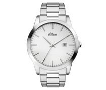Time Datum klassisch Quarz Uhr mit Edelstahl Armband SO-3395-MQ