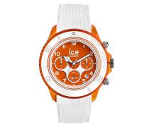 ICE dune White Orange red - Weiße Herrenuhr mit Silikonarmband - Chrono - 014221 (Large)