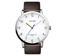 Analog Quarz Uhr mit Leder Armband SO-3480-LQ