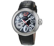 Datum klassisch Quarz Uhr mit Leder Armband 34000MKDRDWPSK