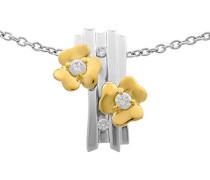 Halskette Silber vergoldet Zirkonia weiß ZH-6039/1