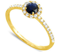Ring 18 Karat (750) Gelbgold Saphir-badm 07094-0001