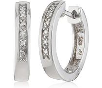 Creolen 925 Sterling Silber 12x Diamanten 0.06 ct 360210176