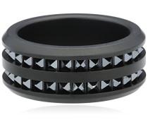 Herren-Ring Metall -Kristall schwarz
