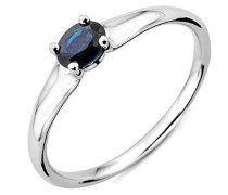 Damen-Ring mit Saphir 9 Karat 375 Weißgold
