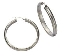 Stainless Steel Damen-Creolen gemustert 389010049