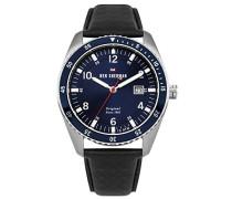 Analog Quarz Uhr mit Leder Armband WBS107UB