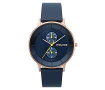 Datum klassisch Quarz Uhr mit Leder Armband PL.15402JSR/03