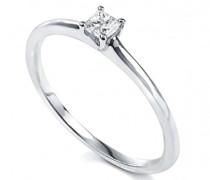 Ring, Weißgold 750/1000, Diamant, 50 (15.9)