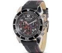 Armbanduhr XL Analog Quarz Leder R3271703125