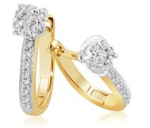Ohrringe Glamour Bicolor 585 Gold 30 Diamanten 0