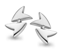Ohrstecker 925 Sterling Silber Diamant wei ZO-5004