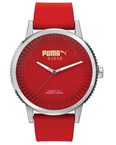 Armbanduhr 10410 SUEDE - RED Analog Quarz Silikon PU104101004