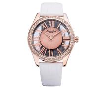 Damen-Armbanduhr Transparency Analog Leder KC2728