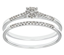 Damen-Ring 9 K 375 Weißgold Diamant