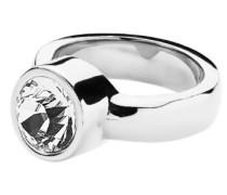 "Ring Edelstahl 1 Swarovski-Kristall ""Cyrielle"" , Silber"