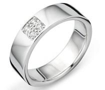 925 Sterling Silber Hochzeitsring mit Zirkonia
