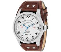 Herren-Armbanduhr One & Only Analog Quarz Leder