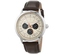 Herren Analog Quarz Uhr mit Leder Armband P10002