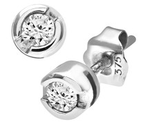 Damen-Ohrstecker 375 Diamant 0,15 ct J PE01570W