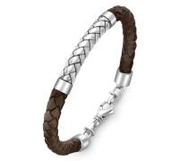 Hoxtons London Sterling Silber Fischgät Brauens Leder Armband 22cm