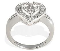 Damen-Ring 585 Weißgold 31 Diamanten 1,00ct