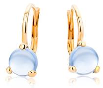 Damen-Ohrringe 9 Karat (375) Rosegold Topas