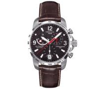 Armbanduhr XL Chronograph Quarz Leder C001.639.16.057.00