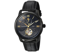 Erwachsene Mondphase Automatik Smart Watch Armbanduhr mit Leder Armband ES-8066-05