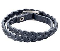 Jewelry Armband Messing Leder Winter Bracelet Versilbert 38.0 cm blau 291346252