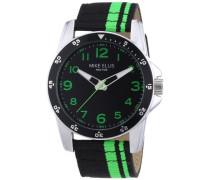 Herren-Armbanduhr XL Analog Quarz Textil M3145