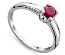 Damen-Ring mit Rubin 9 Karat 375 Weißgold