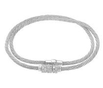 Armband Silber rhodiniert mit Zirkonia Ringe 43